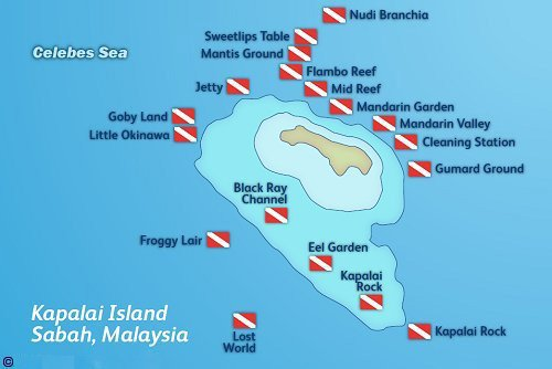 Kapalai Dive Map